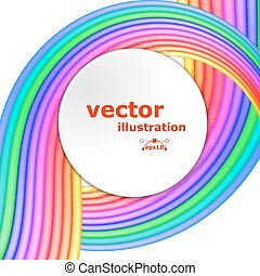 Abstract fullcolor background with colored stripes and shapes for text. Vector illustration