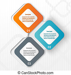 Abstract fullcolor paper infographic. Vector eps10 illustration
