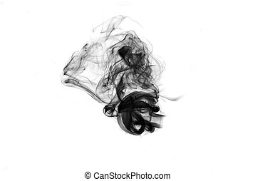 Abstract Fume curves over the white background