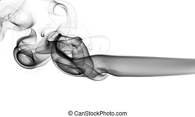 Abstract fume pattern on white