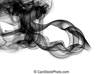Abstract fume patterns on white