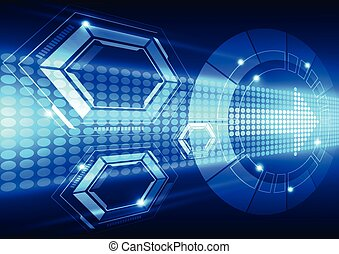 abstract future speed technology system background, vector...