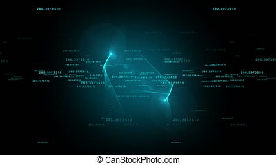 The number of HUD background. - Abstract future technical...