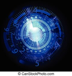 Abstract future technology concept background blue
