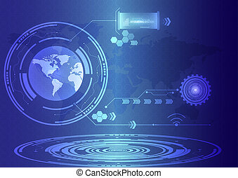 abstract future technology concept background.