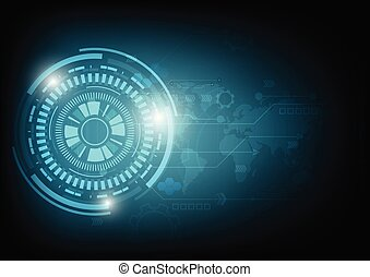 abstract future technology concept background.vector and illustration