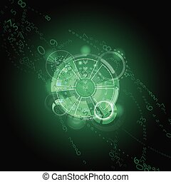 Abstract future technology concept green