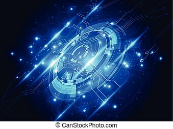 abstract future technology concept, illustration background