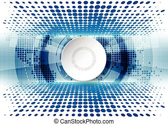 Abstract future technology concept background with various , vector illustration