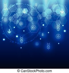 Abstract future technology design background, vector illustration