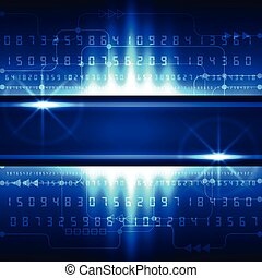Abstract future technology digital concept background, vector