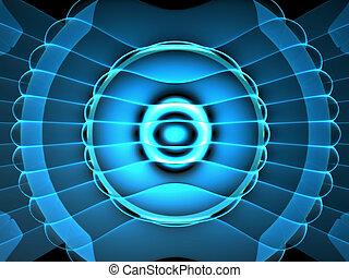 Abstract futurist neon light background illustration