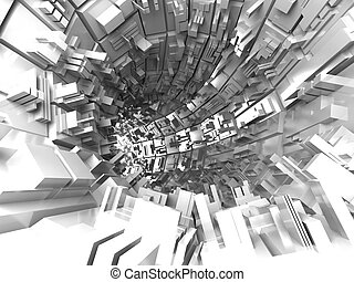abstract futuristic background, 3d render