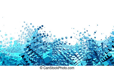 Abstract futuristic background - Computer generated abstract...