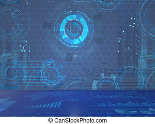 Abstract futuristic background in IT concept - 3d rendering