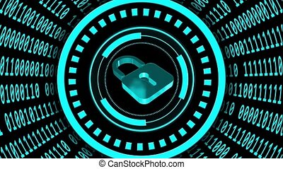 Abstract futuristic background of data flow - speed movement...