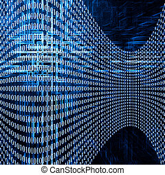 Abstract blue futuristic background with code numbers