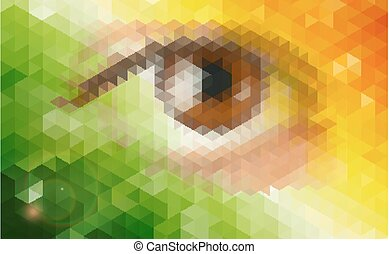 Abstract futuristic background with human eye.
