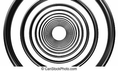 abstract futuristic circle pattern