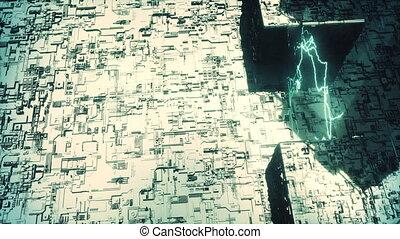 Abstract futuristic city.