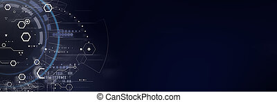 Abstract futuristic digital technology and science background.