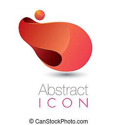 Abstract futuristic icon