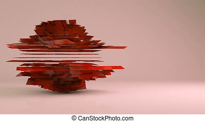 Abstract futuristic rotation geometric transformation motion graphic background