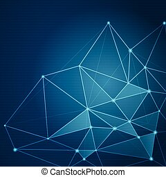 Abstract futuristic shape. Computer generated on blue background