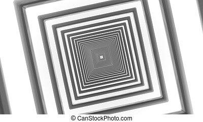 abstract futuristic square corridor