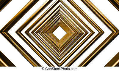 abstract futuristic square gold pattern