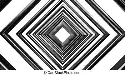 abstract futuristic square pattern