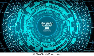 Abstract Futuristic Technological Background Vector. Hi...