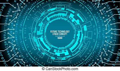 Abstract Futuristic Technological Background Vector. Hi Speed Digital Design. Security Network Backdrop