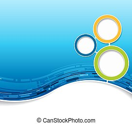 Abstract futuristic technology blue brochure. Vector background