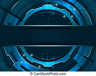 Abstract futuristic technology gear wheels background. Vector illustration with stripe for your text.