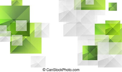 Abstract futuristic technology green grey video animation