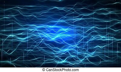 Abstract futuristic technology innovation wave curve overlay effect