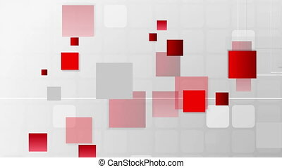 Abstract futuristic technology red grey video animation