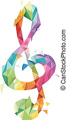 Abstract G-Clef Geometric Design - Illustration of Abstract...
