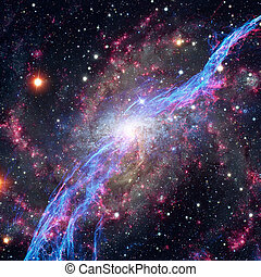 Abstract galaxy in deep space. Astronomy background....