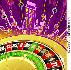 Abstract gambling background