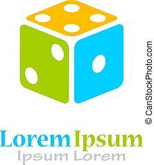 Abstract game vector logo