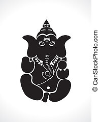 abstract ganesh silhouette vector illustration