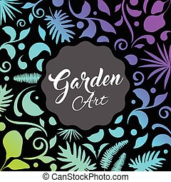 Abstract garden design, leaf nature background