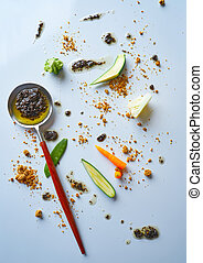 abstract gastronomy vanguard concept molecular cuisine...