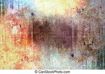 abstract, geïllustreerd, grunge, achtergrondmodel, voor,...