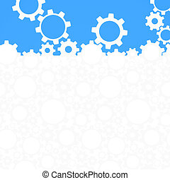 Abstract gear background. Vector illustration