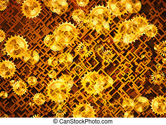 abstract gear mechanical backgrounds