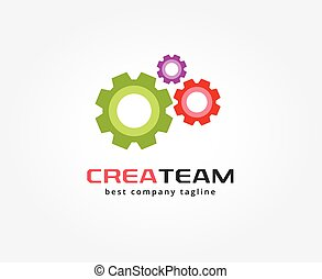 Abstract gear vector logo icon concept. Logotype template for branding