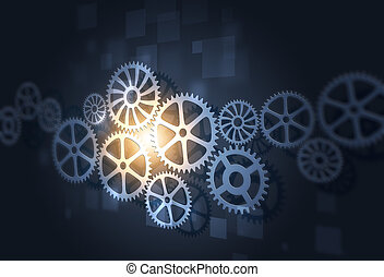 Abstract Gears Concept Business Background